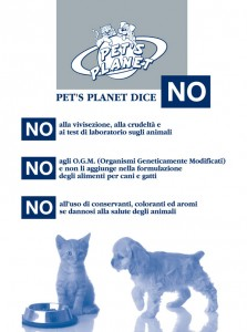 Vivisezione, O.G.M. e conservanti: i NO di Pet's Planet