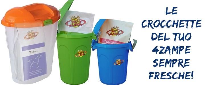 Novità sul sito Pet's Planet: contenitore salvafreschezza+crocchette, la soluzione ideale per mantenere sempre fresco l'alimento del tuo 4 zampe